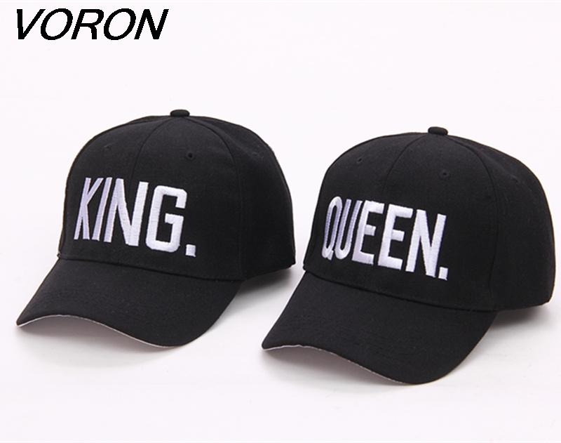 VORON Hot Selling King Queen Letter Embroidery Baseball Cap Couples ... ddcf90c9034
