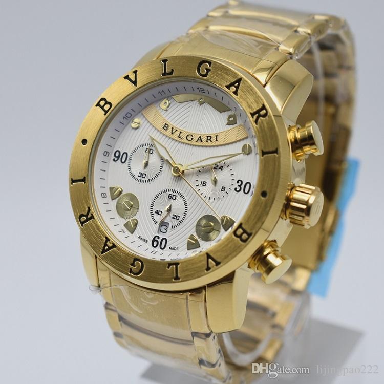3cf88689e00 Compre AAA Luxo Homens Data Automática Relógio De Aço Suíço Top Marca  Cronógrafo Esportes Masculino Relógio De Pulso De Negócios Multi Função  Famosos ...