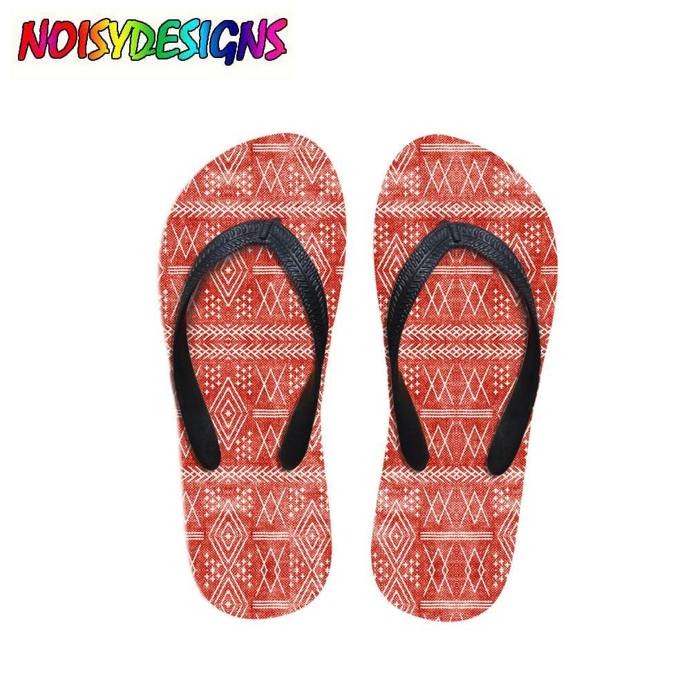c1199889f5c Vintage Moroccan On Red Printed Flip Flops Women Summer Beach Water Slippers  Fashion Female Rubber Sandals Flat Shoes Winter Boots For Women Boots  Online ...