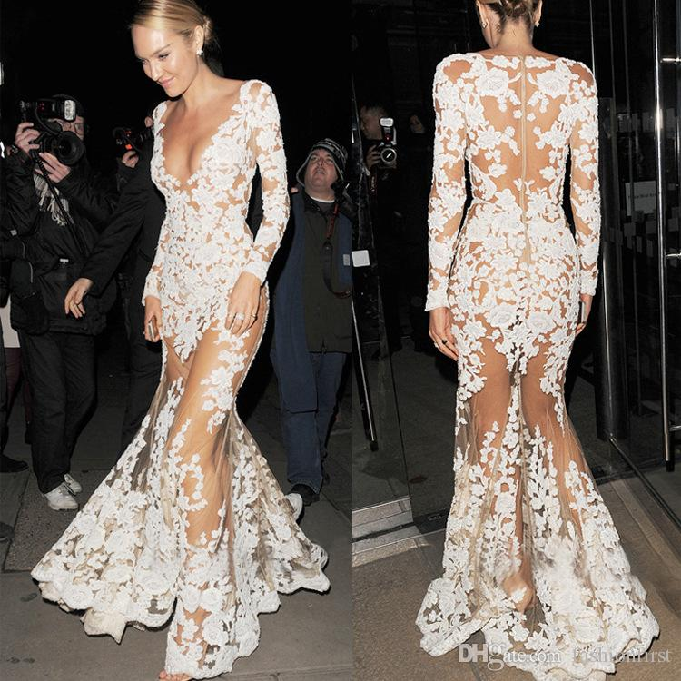 2019 White Women Cocktail Evening Summer Sheer Mesh Floral Lace Embroidered Crochet Maxi Long Dresses Hippie Boho Wed Lace Dress Vestido