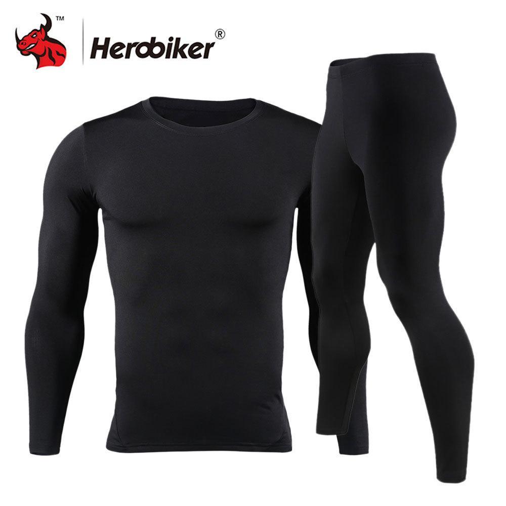 cf5d4148d912 Großhandel Herobiker Herren Fleece Gefüttert Thermo Unterwäsche Set  Motorrad Skifahren Basisschicht Winter Warm Long Johns Shirts Tops Bottom  Suit D18110503 ...