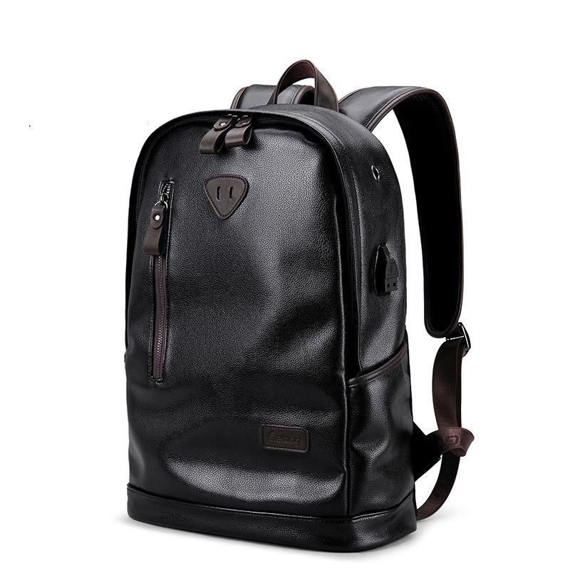 LIELANG Brand Men Backpack Leather Male Functional Bags Men Waterproof  Backpack PU Big Capacity Men Bag School Bags For Teenager Black Leather  Backpack ... cecec4a2e7a06