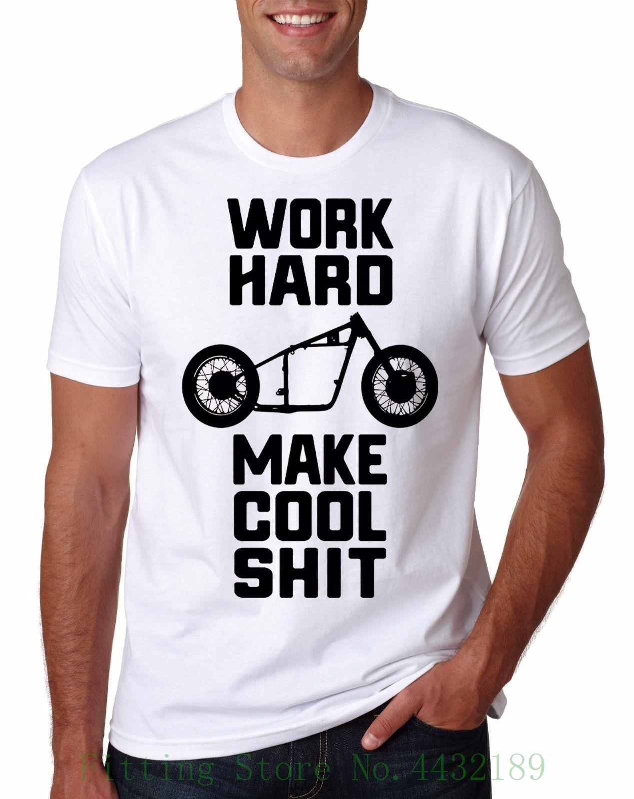 Work Hard T Shirt Biker Motivation Garage Monkey Gmg Mechanic Sweet