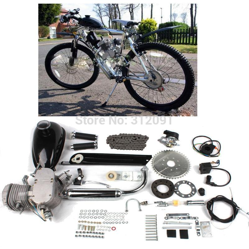 (Ship from US) Bicycle 80CC 2-Stroke Bicycle Engine Kits for Motorized Bike  DIY Bicycle Air Cooling