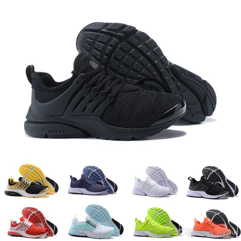 40c1a11e32a 2019 2018 TOP PRESTO 5 BR QS Breathe Mens Shoes Sneakers Black White Yellow  Red Women Running Shoes Hot Men Sports Shoe Walking Designer Shoes From  Regards