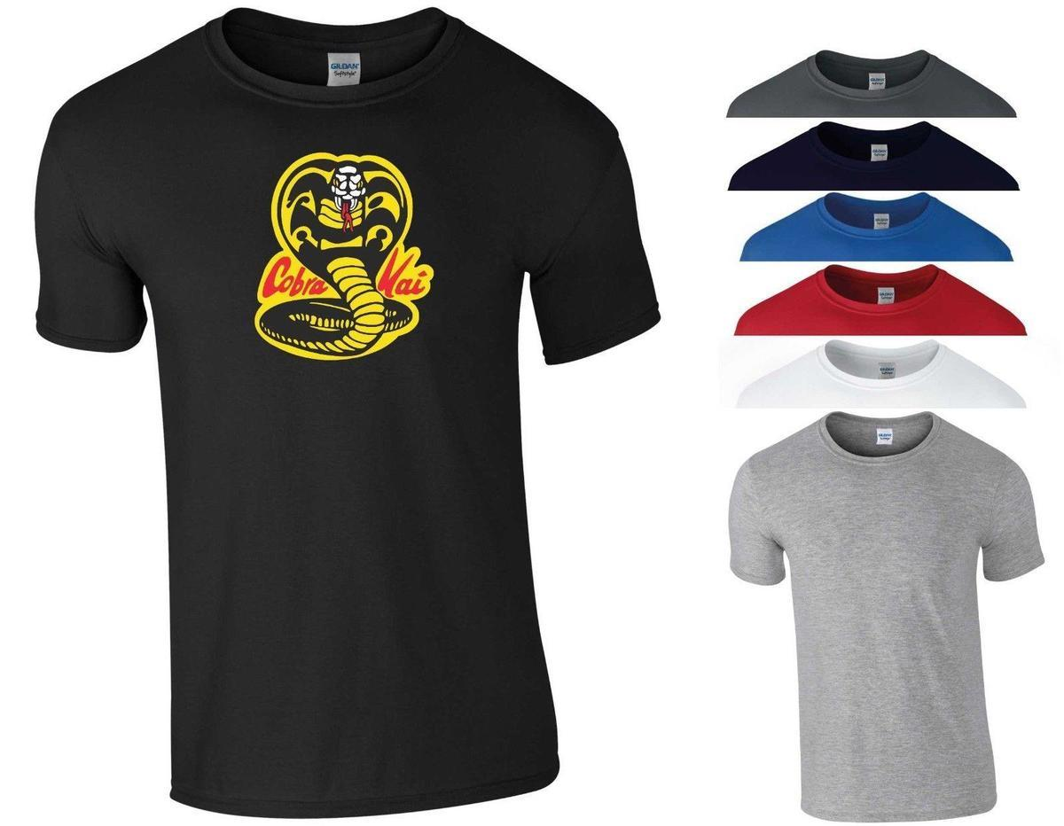 9b0da1056 Cobra Kai T Shirt The Karate Kid Sweep The Leg Classic Retro Movie Fans Men  Top Funny T Shirts Prints Funky T Shirt Design From Linnan08, $14.67|  DHgate.Com
