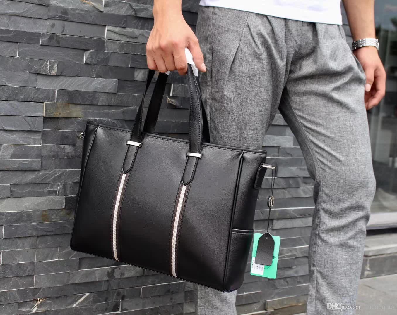 5706fadb946f 2019 New Designer Mens Business Bags Genuine Leather Mens Computer Bag High  Qaulity Messenger Bag Designer Briefcase Big Size Shoulder Bag Satchel  Messenger ...