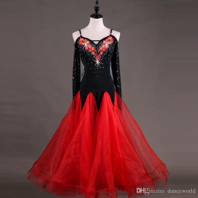 2018 Ballroom Competition Dance Dress Kaka Dance Dresses Flamenco Dress For Latin Dance Jazz Dress Women For Lulu Dancewear Competition Wear