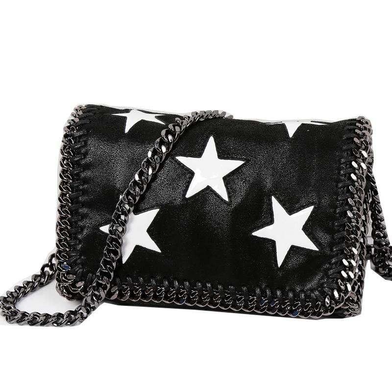 Famous Brand Design Five Point Star Bag Star With The Same Female Bag Women  Chain Shoulder Messenger Ladies Flap Purse Womens Purses Evening Bags From  ... 9fa9cf8cc