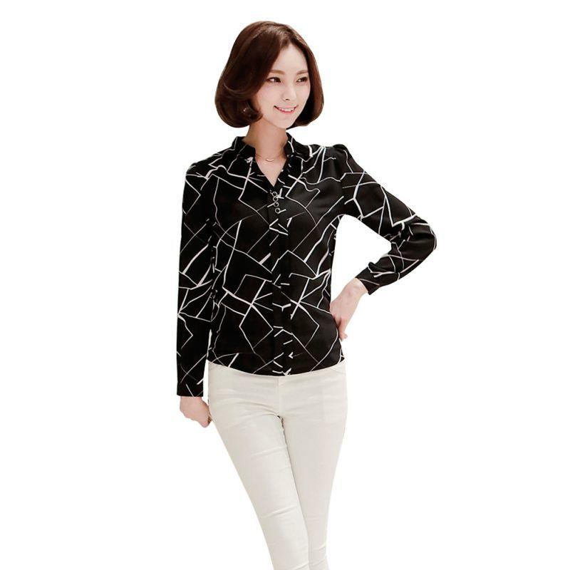 e1f953675 2019 2017 New Women Chiffon Work Wear Button Down Shirt Office Ladies  Blouse Casual Tops G77 From Qinfeng09, $22.27 | DHgate.Com