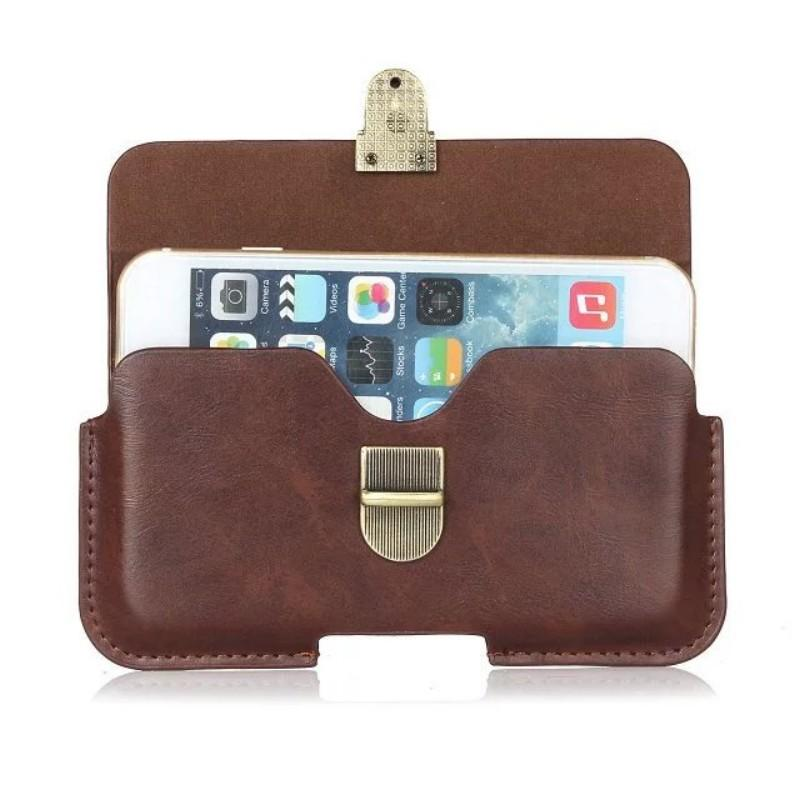 Universal PU Leather Belt Clip Pouch Cover Case for Sharp Aquos C10/Aquos S3 mini/Aquos Sense Basic/Android One S3