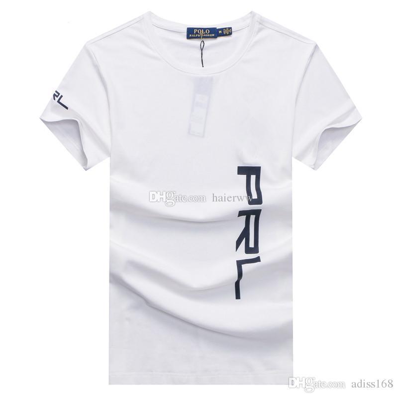 Compre New Hot Moda Venda Marca De Roupas Homens Bordado Camisa De Algodão T  Shirt Dos Homens Mulheres T Shirt 18 Estilos M Xxl De Adiss168 30ca32cfca5