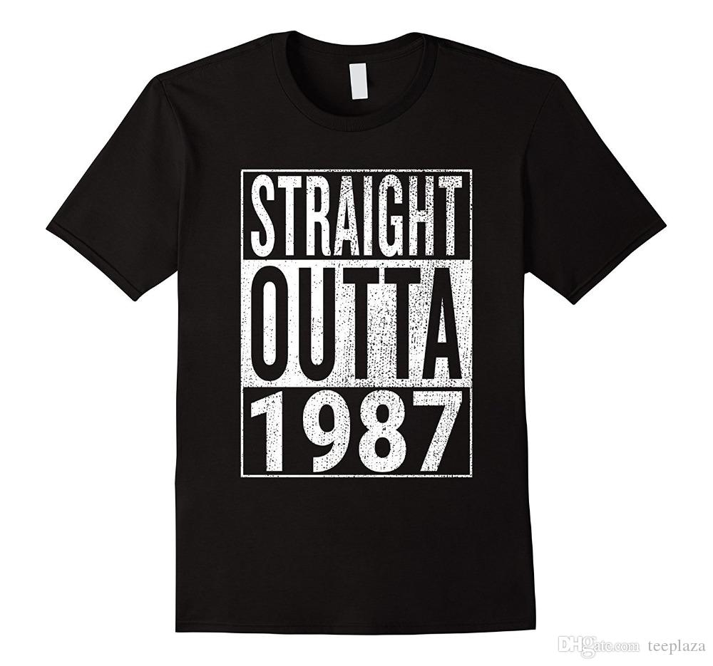 T Shirt Sale Straight Outta 1987 Great 31st Birthday Gift Idea O Neck Short Sleeve Best Friend Shirts For Men Funny Tees Women