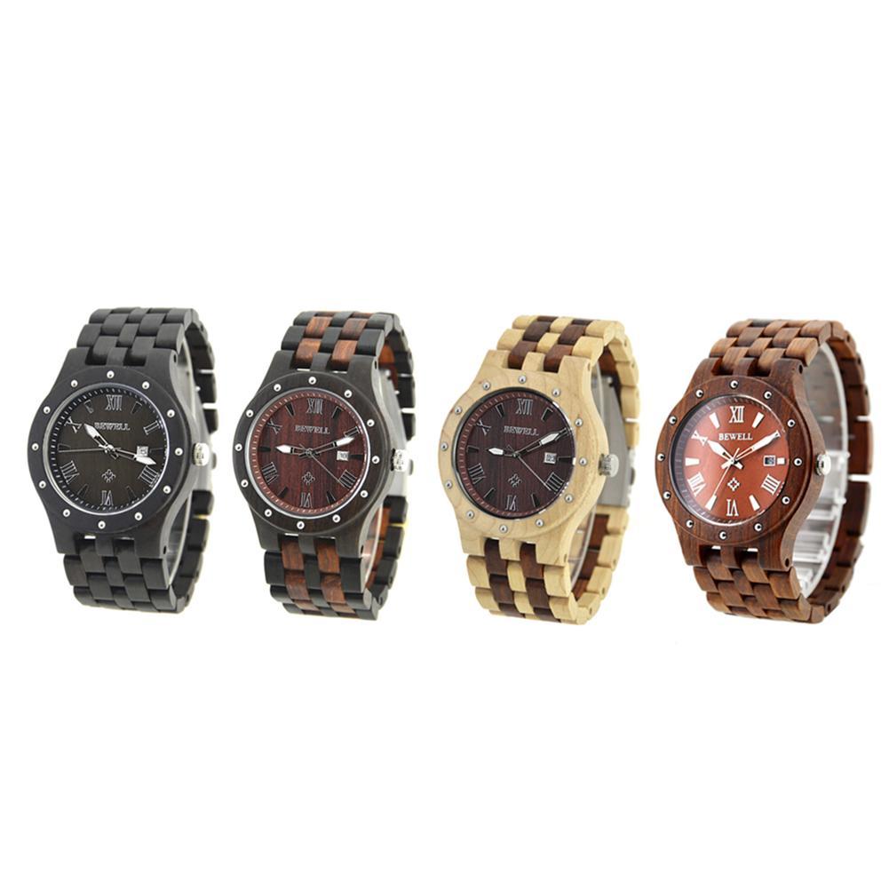 fff5b2376f38 Compre Hombre Calendario Pulsera Quarts Relojes Hombre Hecho A Mano Reloj  De Negocios De Madera Horneges Mannen Saat A  44.1 Del Youerjerry