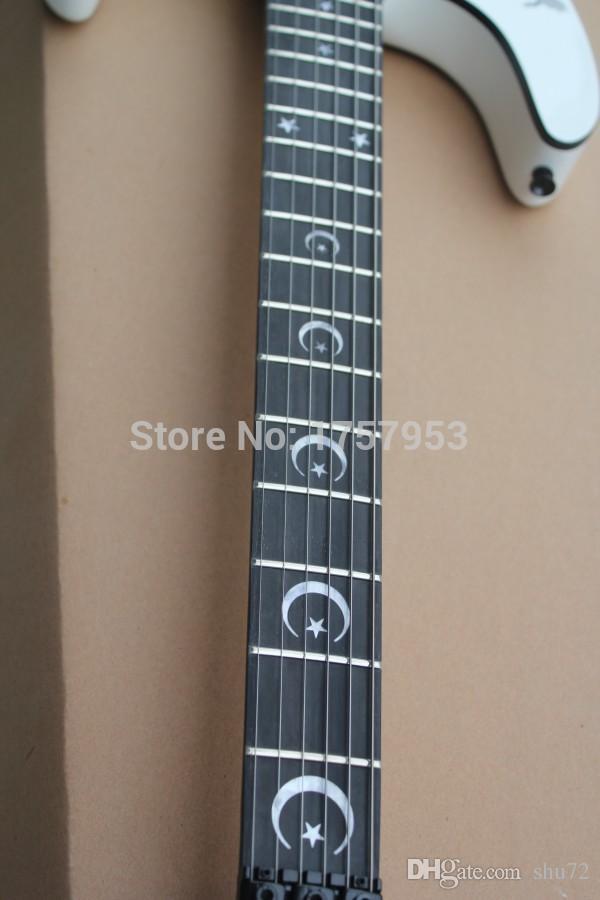 Fabrik Custom shop 2015 Neueste Benutzerdefinierte weiß E S P KH-2 Kirk Hammett Ouija weiß e-gitarre Kostenloser versand hai 4asd