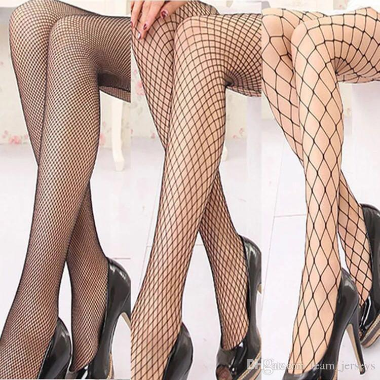 925361e8be8 2019 Hollow Out Sexy Pantyhose Female Mesh Net Pattern Black Women Tights  Stocking Slim Big Fishnet Stockings Fashion Nylon Club Party Hosiery From  ...
