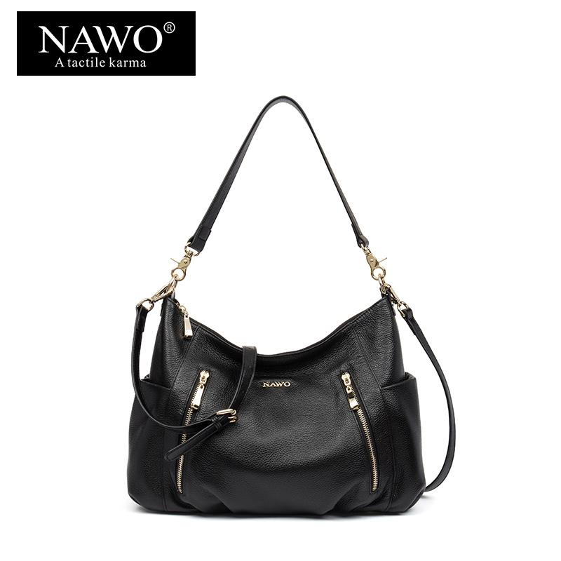 7977c0056d00 NAWO New Women Leather Hobo Bag Fashion Shoulder Bag Women High Quality  Handbag Casual Large Capacity Tote Female Crossbody Luxury Bags Womens  Wallets From ...