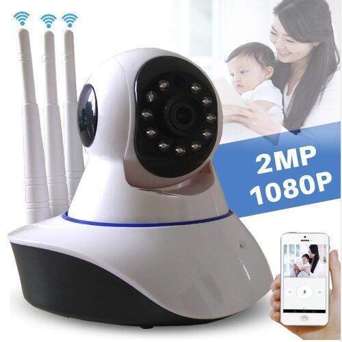 b5ba7e15676 Compre Inicio Cámara CCTV Inalámbrica De Seguridad HD 1080P Cámara IP Wifi  PTZ P2P Monitor De Bebé Visión Nocturna Tri Antena Cámara IP Interior  Yoosee A ...
