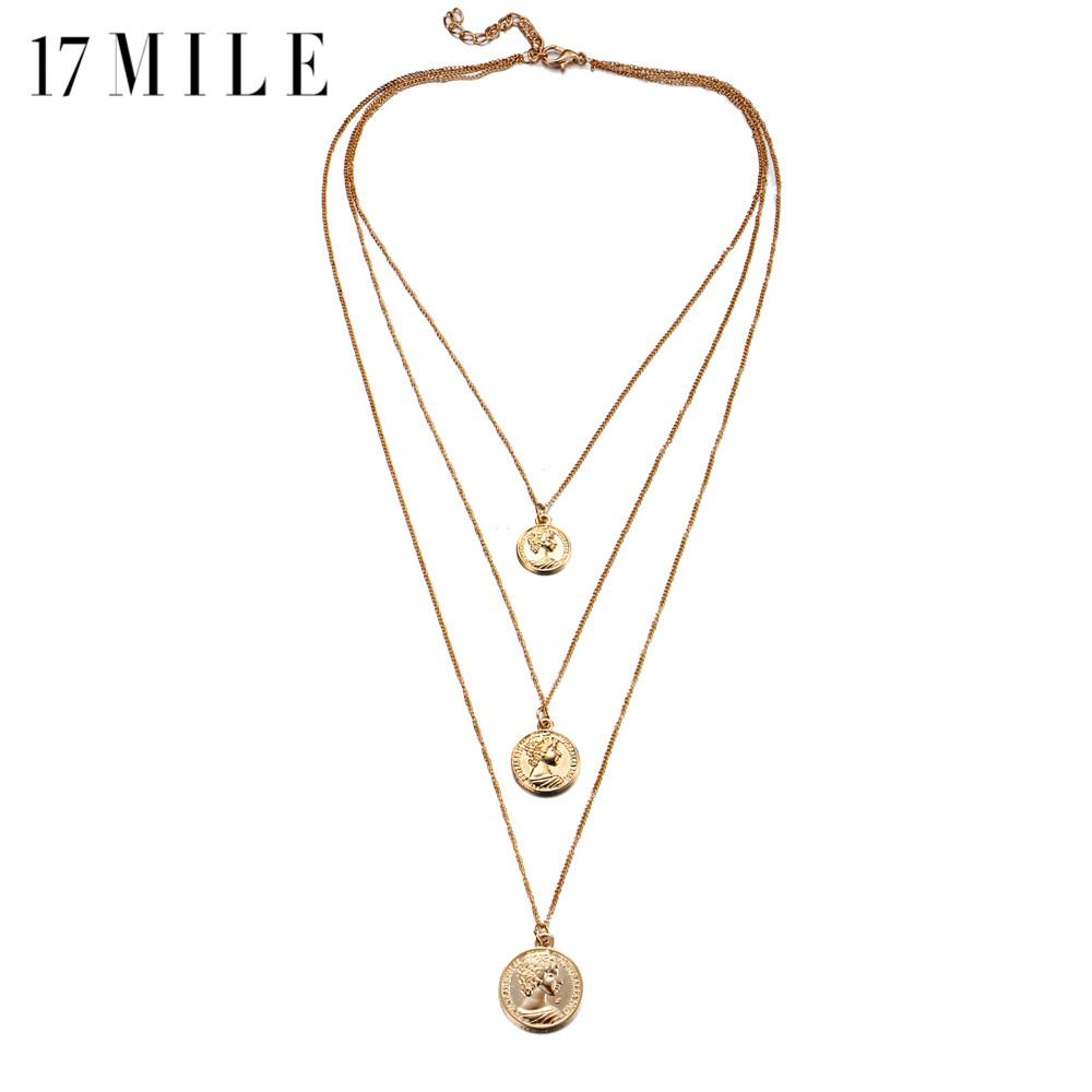 Wholesale 17mile Vintage Multilayer Long Pendant Necklaces For Women