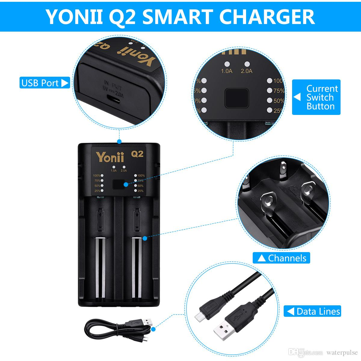 Electro Battery Charger 범용 스마트 충전기 지능형 충전식 배터리 Ni-MH Ni-Cd Li-IMR 10440 14500 16340 18650