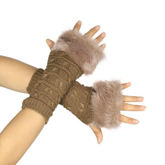 2019 Vrouwen Haak Handschoenen Stijlvolle Handwarmer Handschoenen