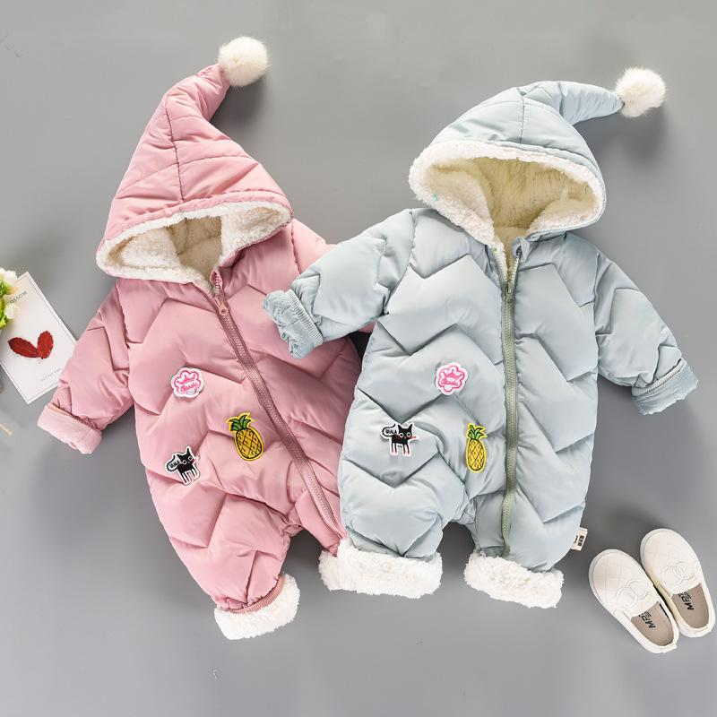 dc48a3ff872a 2019 Cotton Baby Rompers Winter Thick Boys Costume Girls Warm Infant ...
