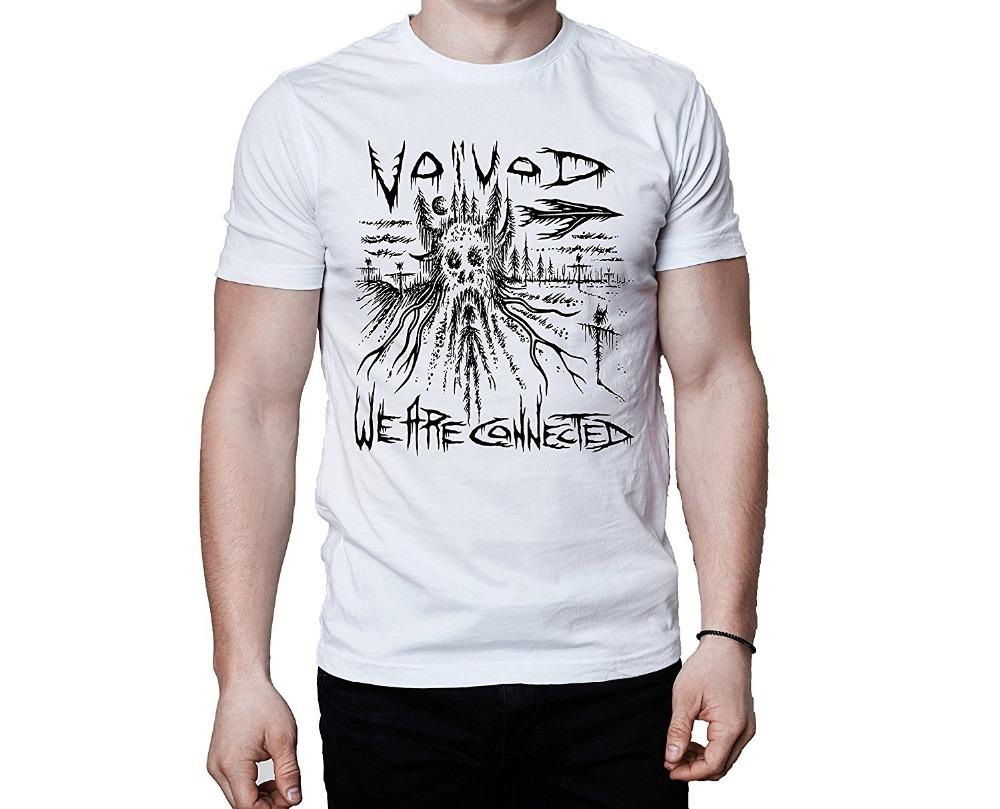 Voivod Canadian Metal Band Post Society 2016 We Are Connected Song Inspired  White T-Shirt Fashion New Top Tees Tshirts
