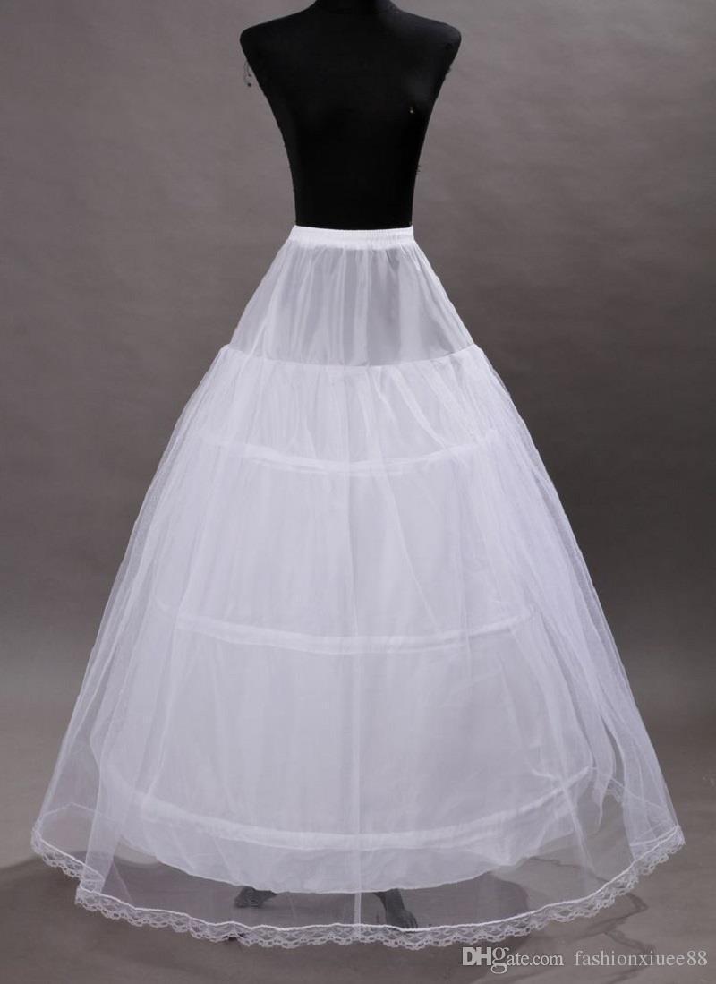 9c8fd234d7cd Vestidos De Cristal Barato 3 Hoops Nupcial Anáguas 2 Camada De Cintura  Elástica Do Casamento Vestido De Noiva Com Cordão Vestido Mulher Underskirt  Crinolina ...