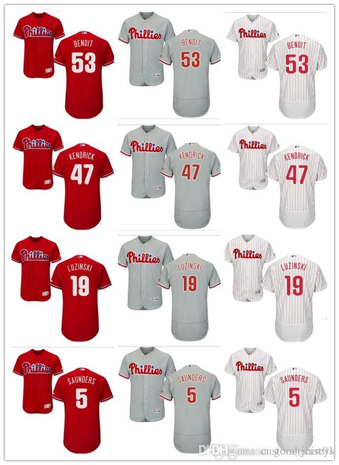 bce2434c custom Men's Women Youth Majestic Phillies Jersey #19 Greg Luzinski 47  Kendrick 5 Michael Saunders 53 Joaquin Benoit Baseball Jerseys