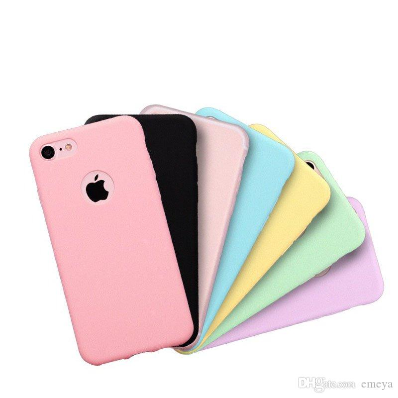 c553aea9d2d Hot Original Soft Silicone Case For IPhone Xs Max Xr 6 S 6S 7 8 Plus 5 5S X  10 6Plus 6SPlus 7Plus Cute Candy Anti Knock Rubber Cover Custom Cell Phone  ...