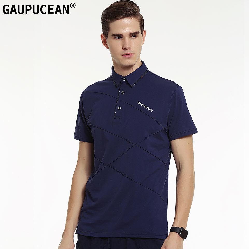 2019 Gaupucean Cotton Man Polo Shirt Fashion Good Quality Big Size M
