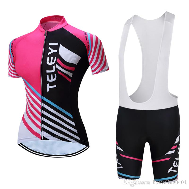 2018 New Women Cycling Clothing Short Sleeve Summer Outdoor Bicycle ... e6812e054