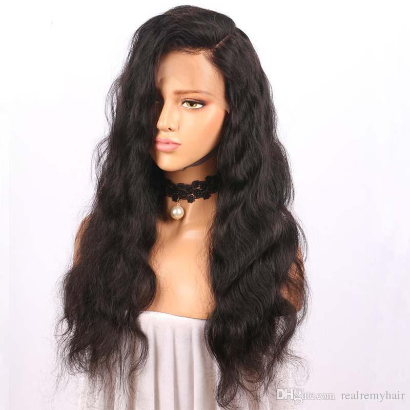 Full Lace Human Hair Wigs with Baby Hair for Black Women 150% Density Brazilian Body Wave Human Hair Full Lace Wigs