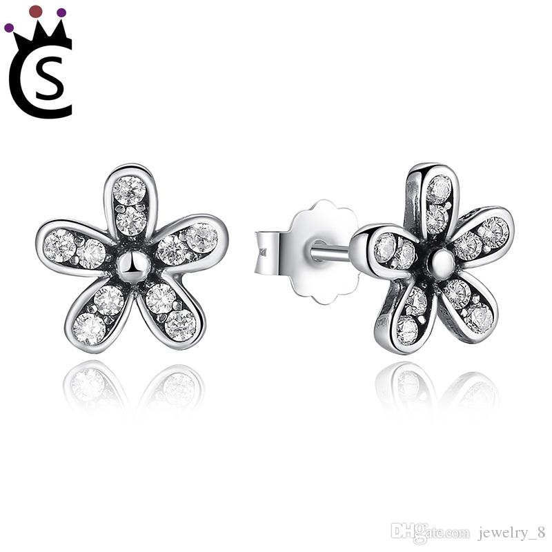 39ba98c46 2019 Authentic 925 Sterling Silver Dazzling Daisy Stud Earrings With Clear  CZ Jewelry ANNIVERSARY SALE 2018 Pandora Style From Jewelry_8, $9.05    DHgate.Com