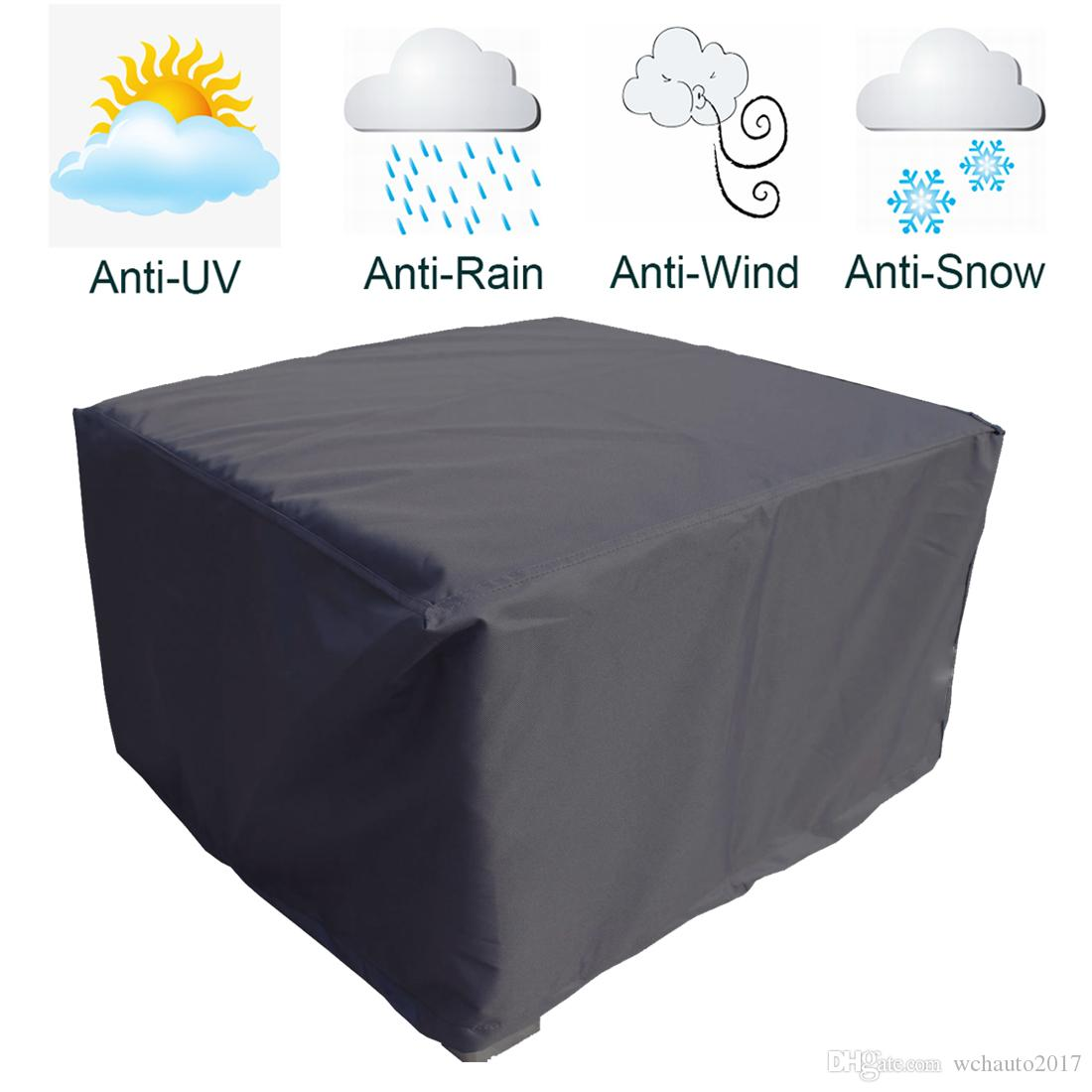 123x123x74cm Patio Table Cover Square Waterproof Outdoo Dust Proof