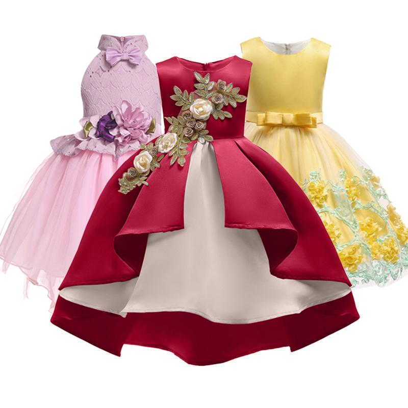 d5d902b2db2d3 Baby Girl Embroidery Silk Princess Dress for Wedding Party Kids Dresses for Toddler  Girl Children Fashion Christmas Clothing Online with $36.07/Piece on ...