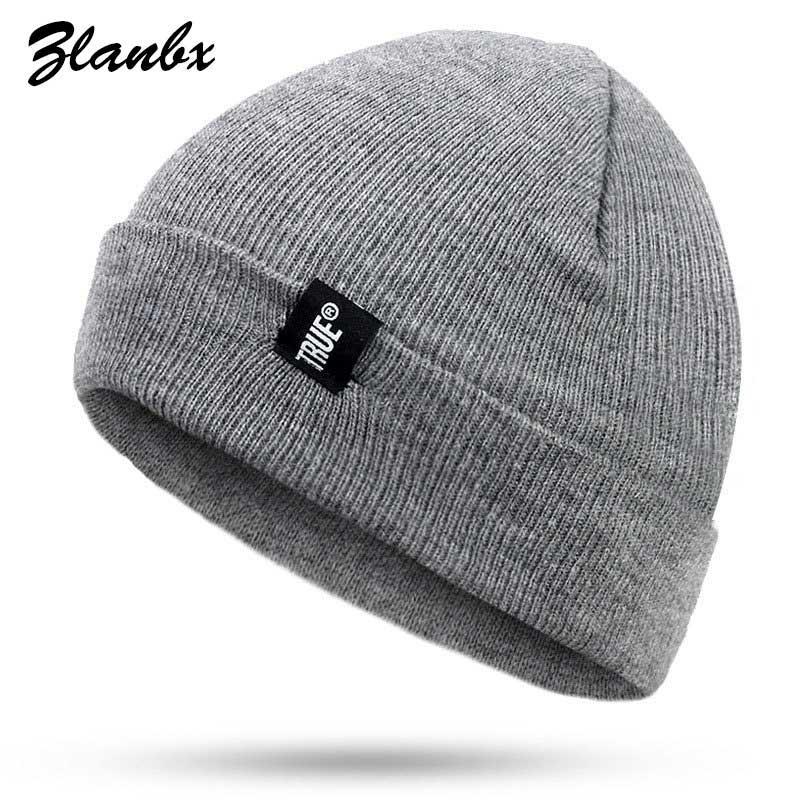 913f298c457fd New 2018 Letter TRUE Winter Hip Hop Beanies Hat For Men Women Casual  Knitted Hats Crochet Ski Cap Warm Skullies Cotton Knit Caps