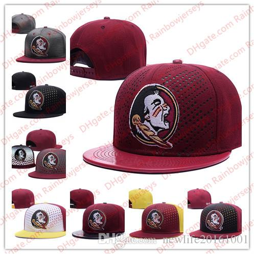 3b38f20bb6b 2019 NCAA Florida State Seminoles Snapback Caps Black Gray Red 2018 New  College Adjustable Hats All University FSU Caps Mix Match One Sze For All  From ...