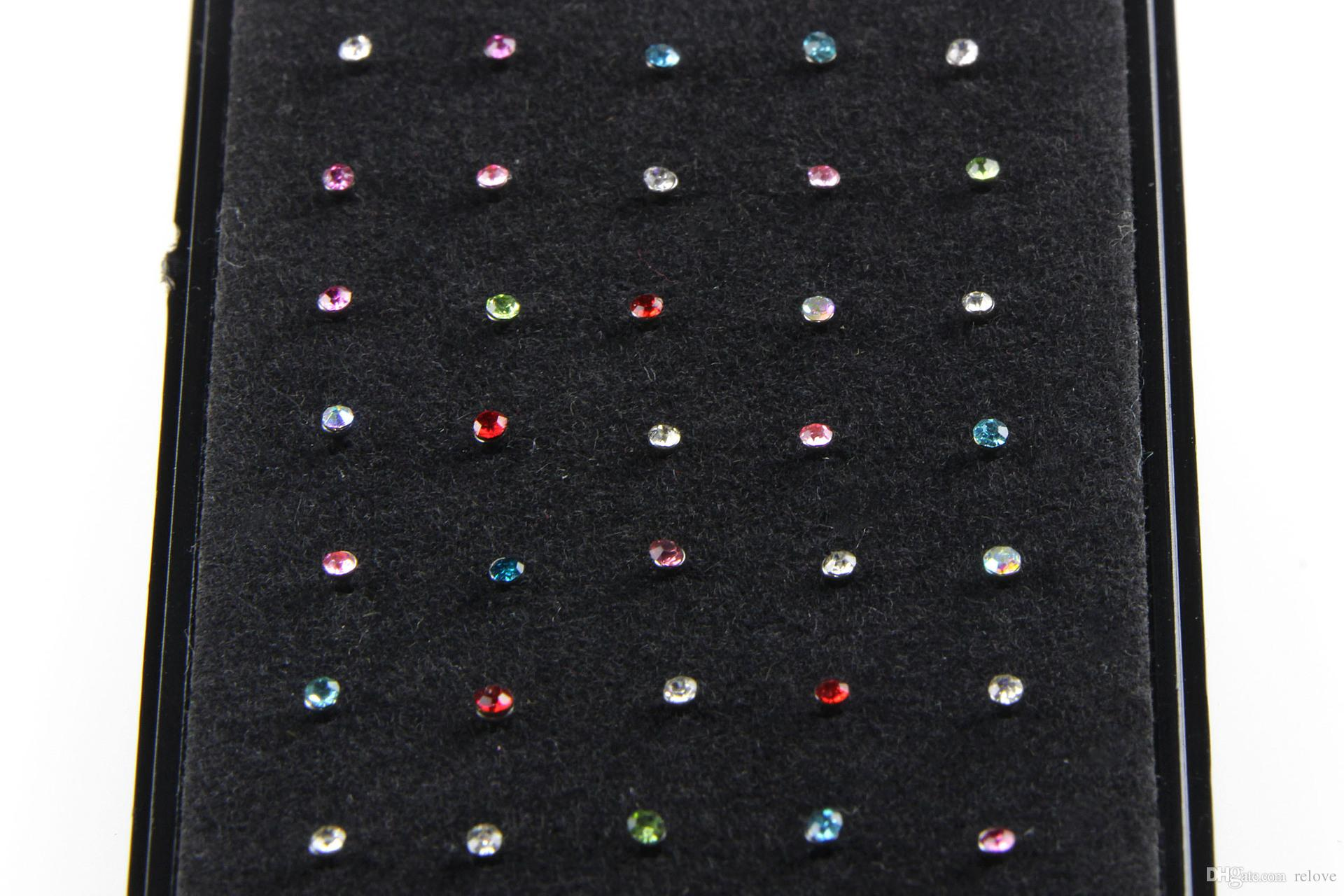 Nose Ring Fashion Nose Stud Rhinestone 316L Stainless Surgical Steel Nose Piercing Crystal Stud Body Jewelry