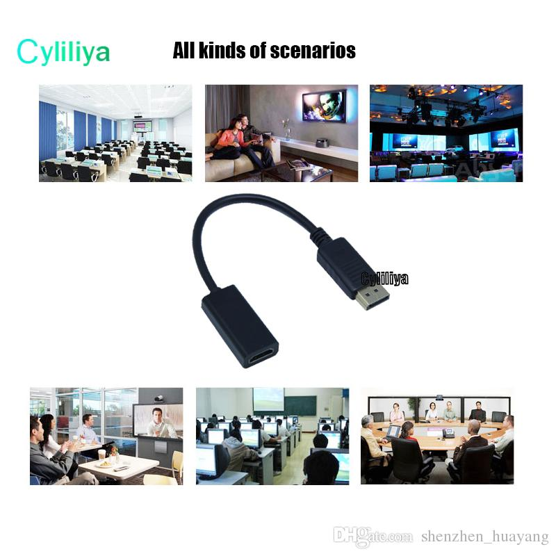 DisplayPort DP to HDMI Video Cable Male to Female Connector Adapter for PC Apple Mac Macbook with Packing