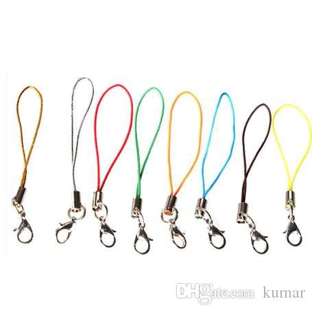 100Pcs Cell Phone Lanyard Cord Phone Straps Squishy Toy Strap Mobile Hand for Key Bag USB Flash Disk Mp3 Mp4 Multi Color