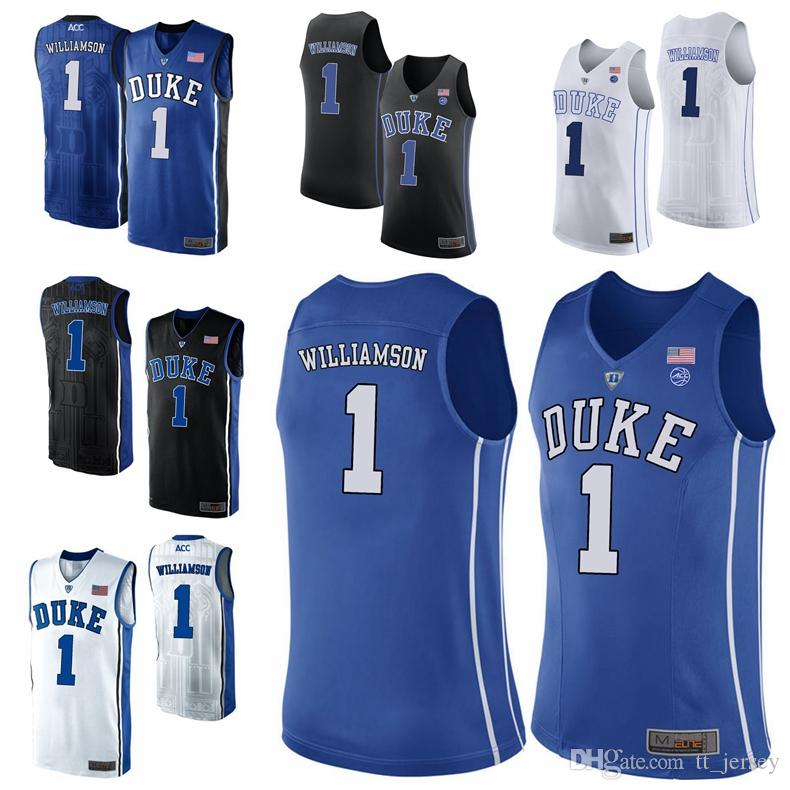 a29678802641 Mens New NCAA Duke Blue Devils  1 Zion Williamson Jersey Royal Blue Black  White Williamson College Stitched Basketball Jerseys Cheap NZ 2019 From  Tt jersey