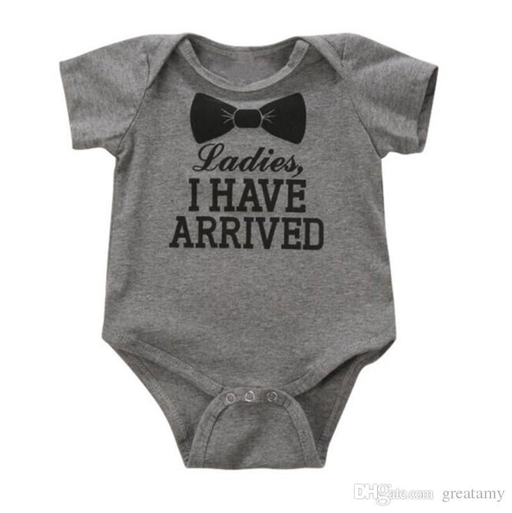 Милый золотой новорожденный onesie комбинезон удивительный ребенок душ подарок новорожденный новорожденных девочек мальчик ползунки детская одежда хлопок ползунки