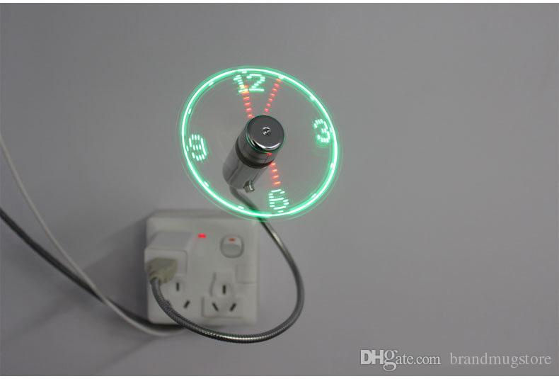 2019 Led Usb Fan Clock Mini Flexible Time With Led Light Desktop
