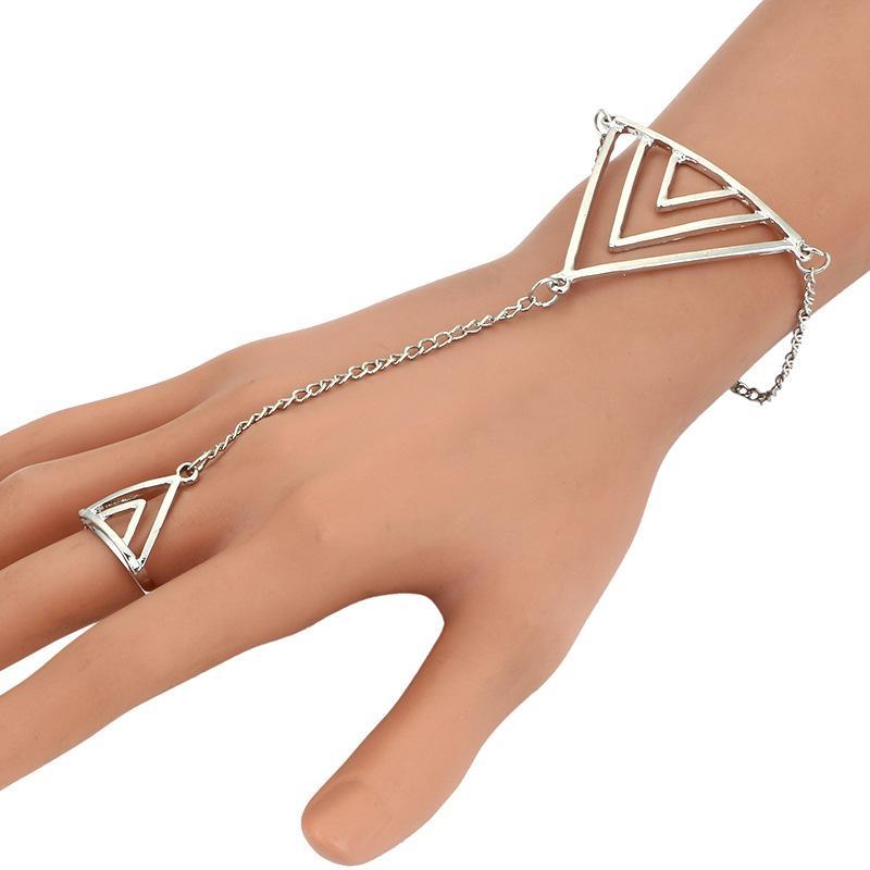 5565c84baf Dreieck Modeschmuck Frauen Dame Strass Kristall Baum Blatt Ring Armband  Heißer Europa und Amerika