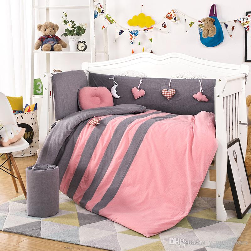 Shop For Cheap Ups Free Bedding Set Baby Toddler Bed Crib Bumper Set Quilt Sheet Bumper Bed Skirt Included Mother & Kids Baby Bedding