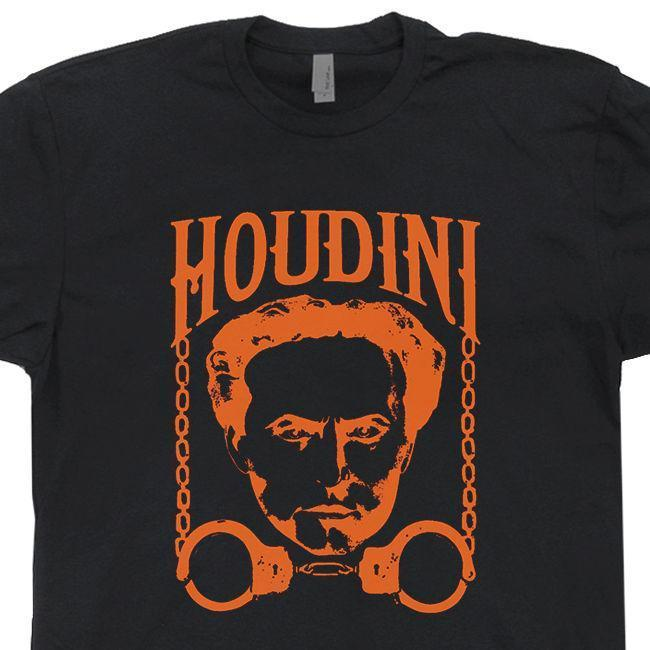 b5d3dd32 Houdini Harry T Shirt Vintage Las Vegas Magic Trick Cards Magician Book  Poster Witty Tee Shirts Tee Shirt Funny From Amesion48, $12.08  DHgate.Com