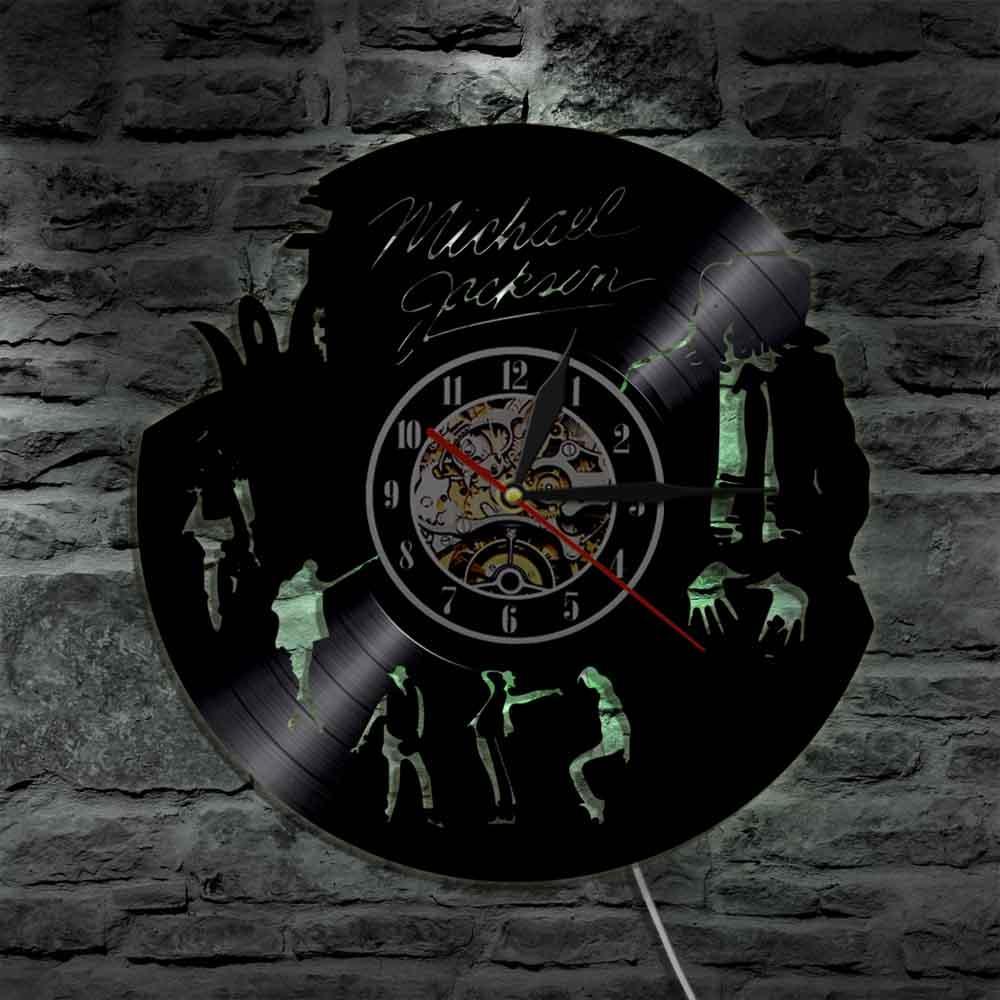 Michael Jackson Wandklok Led Verlichting Vinyl Wandklokken Moderne ...