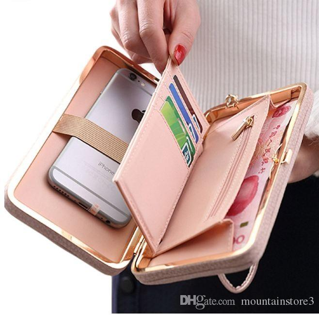 pretty nice e7a10 529b2 Luxury Women Wallet Phone Bag Leather Case For iPhone X 8 7 6s Plus For  Samsung Galaxy S7 Edge S6 Xiaomi Redmi