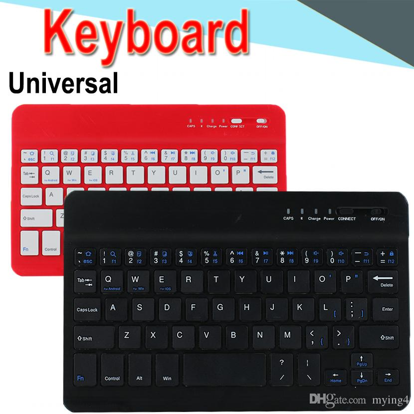 Universal Mini 7 10inch Bluetooth Keyboard long-lasting Battery Ultra-thin  Bluetooth Keyboard for PC iPad Laptop Android Windows XPT6-11